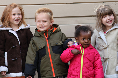 The EDCOE Coat Drive Keeps Children Warm