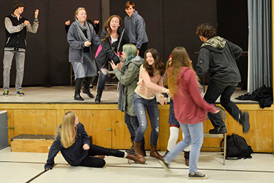 Charter University Prep Play Thrills Audience
