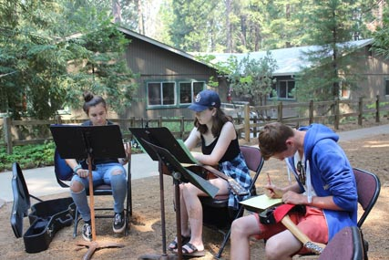 Sugarloaf students in their Acoustic Guitar Elective class