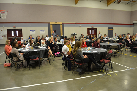 Guests look on at the Community-Based Organization Breakfast 2017 hosted by EDCOE