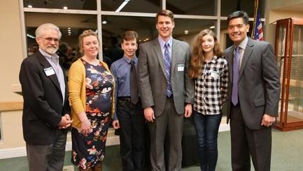 Pictured (left to right): Scot Yarnell (EDCSBA President), Molly Smith, Kyle Pellegrini, Jared Parker, Abigail Oberhauser, Dr. Ed Manansala
