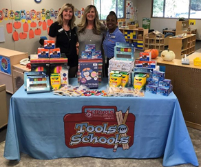 Pictured: Fran Wallace, Schools Financial Credit Union, Placerville Branch Manager; Teacher Sandee Bangs; and Holly Brown, Schools Financial Credit Union.