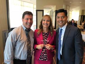 Pictured left to right: Jim Johnson, Coleen Johnson & Dr. Ed Manansala