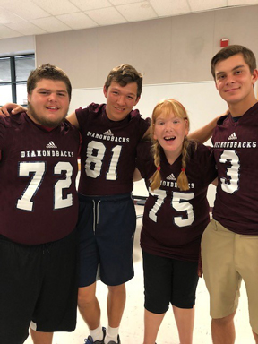 Pictured left to right: UMHS Students Chey Walker, Collin Jones, Csilla Pesko, and Clayton Byer
