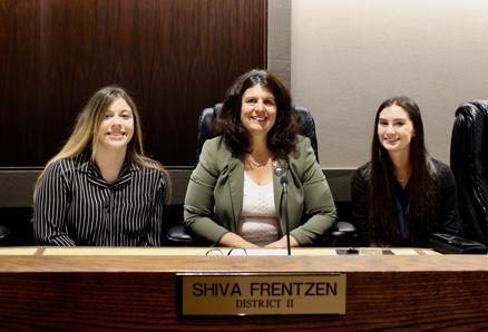 Cassie Giese, left, Supervisor Shiva Frentzen, center, and Grace Silvestrin.
