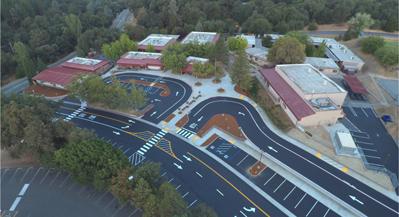 Indian Creek School aerial view