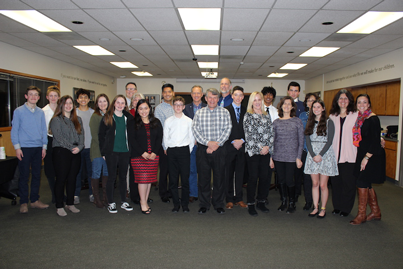 Group photo of youth commission, board of supervisors, and EDCOE leadership staff