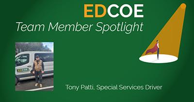 EDCOE Team Member Spotlight, Toni Patti, Special Services Driver