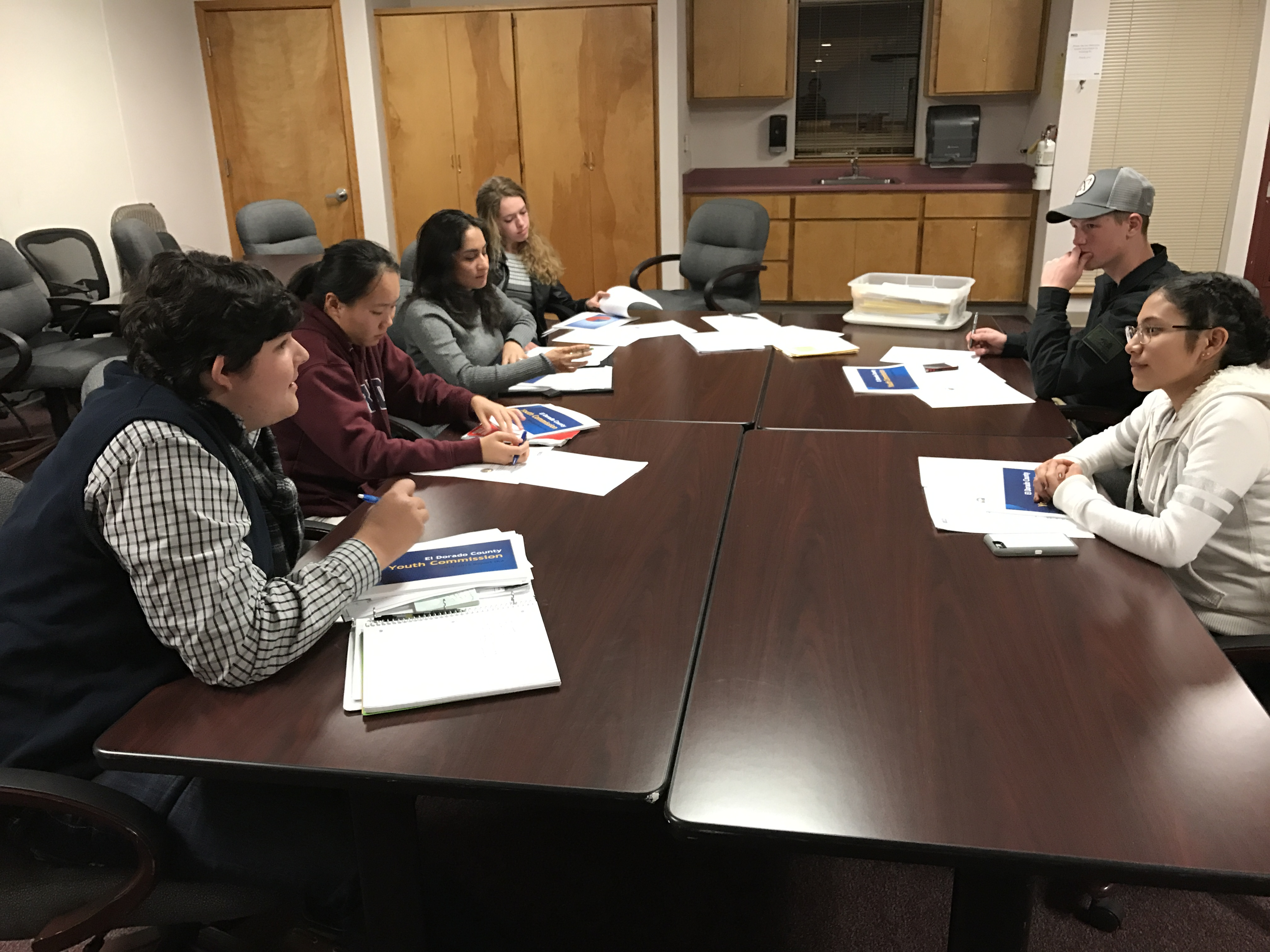Our first meeting:  2016-17 El Dorado County Youth Commission