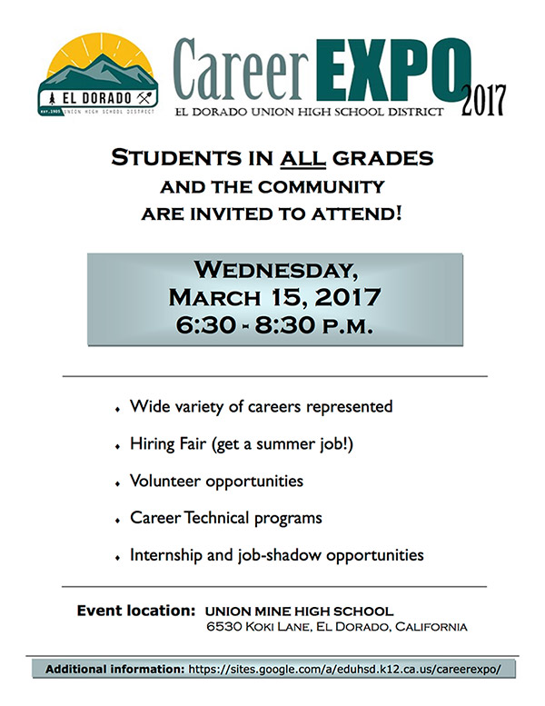 Career Expo 2017  All Students Invited!